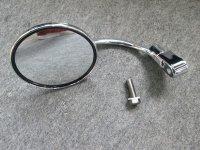 ラウンドミラーセット  クローム可動式