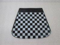 マットフラップ チェッカー黒/白 CUPPINI